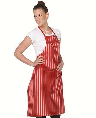 Striped Aprons with pocket Bib Style for Cafes Bars Clubs Restaurants Butchers