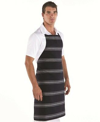 Butchers Apron no pocket 2 Styles for Counter Service Shops Navy Stripe durable