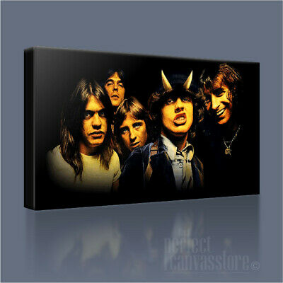 ACDC HIGHWAY TO HELL AWESOME ICONIC CANVAS POP ART PRINT PICTURE by Art Williams