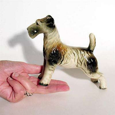 Vintage Wire Haired Terrier Dog Figurine Show Stance MIJ Japan