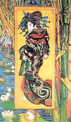 Japanese painting by Vincent Van Gogh Giclee Fine Art Print Repro on Canvas