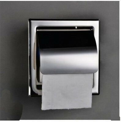 NEW Stainless Steel Wall Mounted Bathroom Toilet Paper Holder Tissue Holder Box
