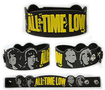 ALL TIME LOW Rubber Bracelet Wristband    Dirty Work    Black