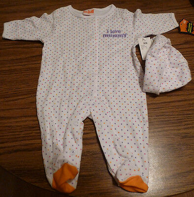 Halloween Newborn Girls Polka Dot 2 Piece Coverall Set – Brand New