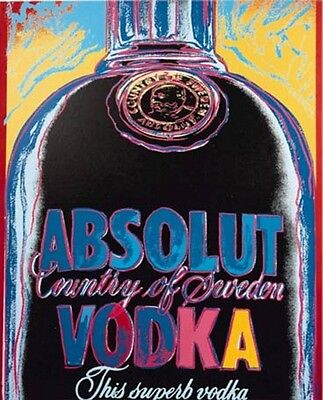 Warhol Absolut Vodka  Stampa Su Tela Canvas 50X60 Pop Art Moderno Bar