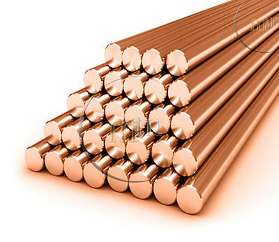 COPPER ROUND BAR SOLID COPPER ROD all Widths & Various Lengths Choose a Size