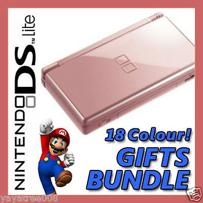 BRAND NEW [METALLIC ROSE PINK] Nintendo DS Lite NDSL Game Console System