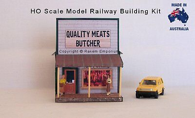 HO Scale Country Butcher Shop Optional Retates Model Railway Building Kit - BS1
