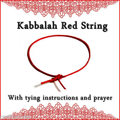 Kabbalah Red String Bracelet + tying instructions + Ben Porat prayer Protection!