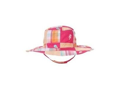 Popsicle Party Ice cream patchwork hat size 0-12 months pink orange cotton new