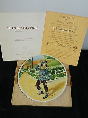 1977 Knowles If I Only Had A Brain Mgm Wizard Of Oz Limited Edition Plate