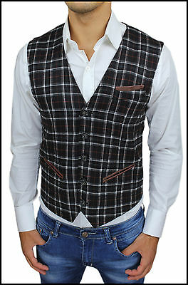 PANCIOTTO UOMO GILET RIGATO SLIM FIT NEW COLLECTION MOD CASUAL  tg S M L XL XXL