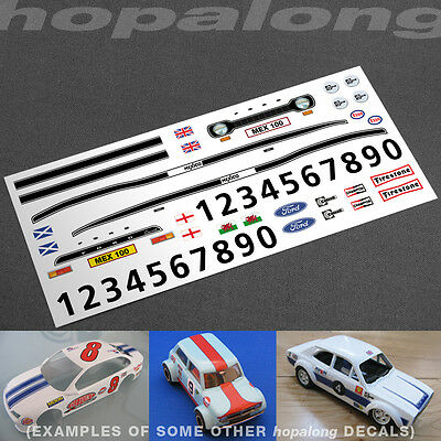 Scalextric/Slot Car 1/32 'Escort Mexico' Waterslide Decals - 6 Colour Options