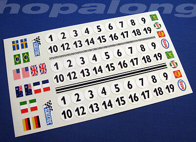Scalextric/Slot Car 1/32 Scale Sticker Decals