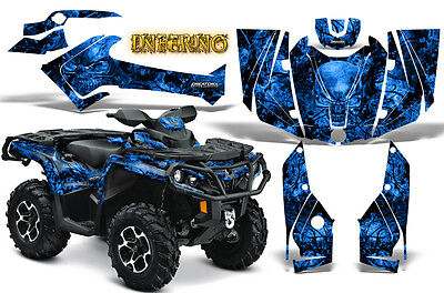 Can-Am Outlander 500 650 800 1000 2013-2018 Graphics Kit Creatorx Inferno Blue
