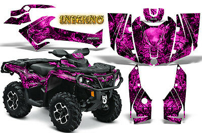 Can-Am Outlander 500 650 800 1000 2013-2018 Graphics Kit Creatorx Inferno P