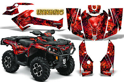 Can-Am Outlander 500 650 800 1000 2013-2016 Graphics Kit Creatorx Inferno R