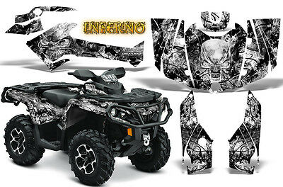Can-Am Outlander 500 650 800 1000 2013-2018 Graphics Kit Creatorx Inferno W