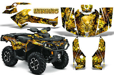 Can-Am Outlander 500 650 800 1000 2013-2018 Graphics Kit Creatorx Inferno Y