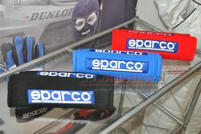 Sparco 3 Seatbelt Harness Pads FREE DELIVERY WORLDWIDE, 2 RED universal covers
