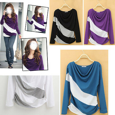 Hot 2013 Fashion Women's Batwing Top Lace Loose T-Shirt Blouse Long Sleeve LY105