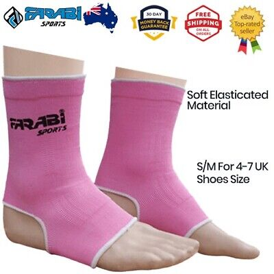 Ankle Support Guard MMA Muay thai kick boxing wraps - Pink S / M