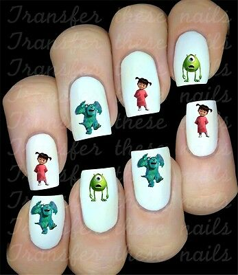 MONSTER INC 30 Stickers autocollant ongles manucure nail art water decal déco