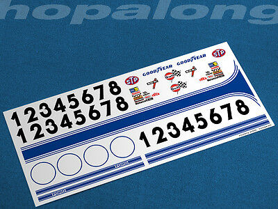 Scalextric/Slot Car 1/32 Scale Waterslide Decals. ws034