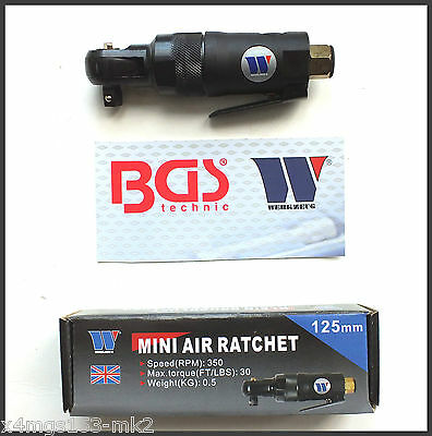 "Werkzeug - 3/8"" Reversible Mini Air Ratchet 47 Nm - Lifetime Guarantee - 1112"