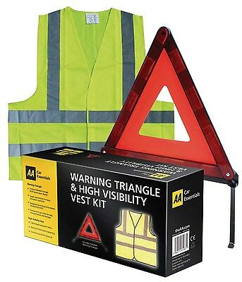 AA Car Essentials Warning Triangle & High Visibility Vest Kit