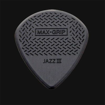 Dunlop Max Grip Jazz III Guitar Picks Black - 1 2 3 4 5 6 10 12 20 24 36