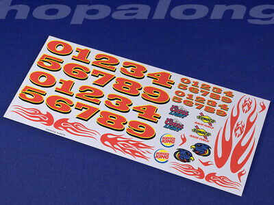 Scalextric/Slot Car 1/32 Scale Waterslide Decals. ws007