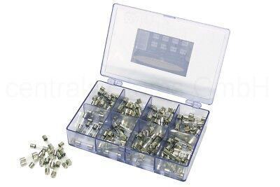 160 Stk. Feinsicherungen Sortiment + Box / Feinsicherung Glassicherung Set flink