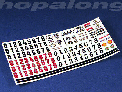 Scalextric/Slot Car 1/32 Scale Waterslide Decals. ws005