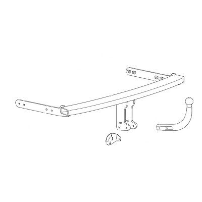 Westfalia Towbar for Volkswagen Golf Hatchback MK4 1998-2005 - Swan Neck Tow Bar