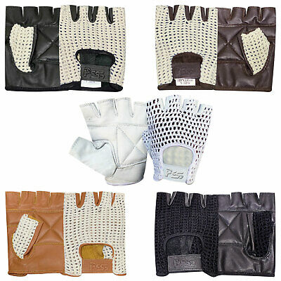 Mesh weight lifting padded leather gloves training cycling GYM brand new bargain