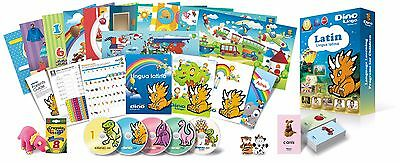 Latin for Kids Deluxe set, Latin learning DVDs, Books, Posters, Flashcards