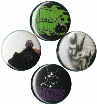 Electric Wizard: Set of 4 Buttons-Pins-Badges *Dope Throne* *Come My Fanatics*