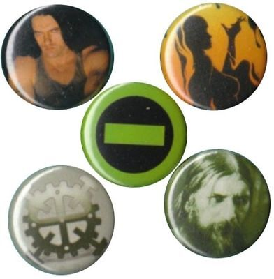 Type O Negative: Set of 5 Buttons-Pins-Badges Peter Steele carnivore metal