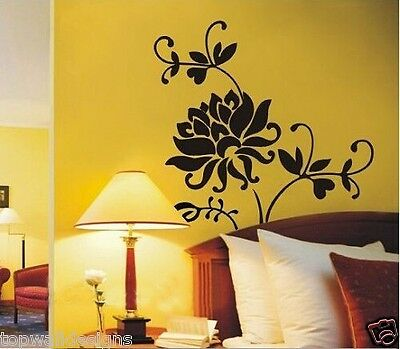 $89 Flower Floral Butterfly Removable Decor Art Mural L7032 Wall Sticker Decal