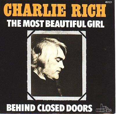 "CHARLIE RICH  The Most Beautiful Girl  PICTURE SLEEVE 7"" 45 rpm record NEW RARE"