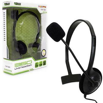 fd11553f593 XBOX 360 - Headset - Live Chat Headset with Mic - Black - SMALL (KMD ...