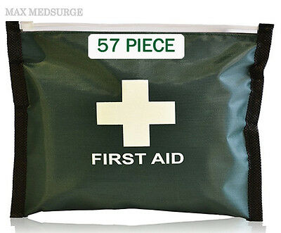 57 Piece FIRST AID KIT, Travel Home Car Van, Holiday, Sport, Bike, Work, Office