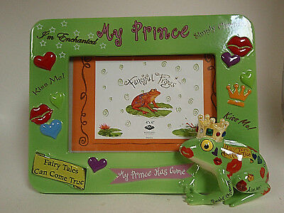 Picture frame frog 'My Prince' 4X6 ceramic new in box fast free shipping