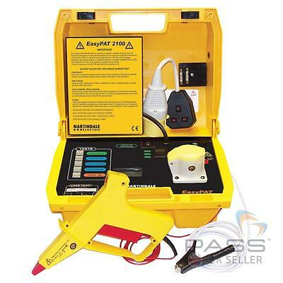 NEW Martindale EasyPAT 2100 PAT Tester with Flash Gun and Accessory Bag! / UK