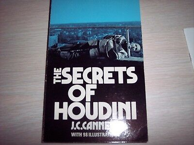 Secrets of Houdini, J. C. Cannell, magic book