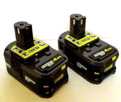 Genuine Ryobi P197 4.0Ah 18V  LITHIUM-ION High Capacity Battery 2PCS