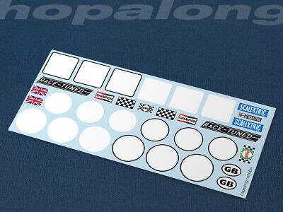 Scalextric/Slot Car 1/32 Scale Waterslide Decals. ns006