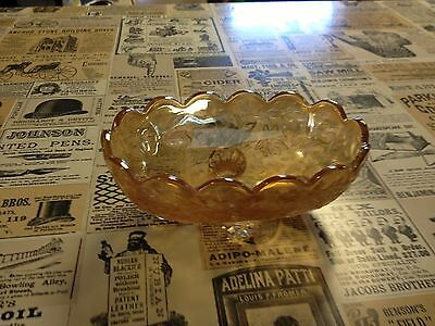 Florigold Four Toed Depression Glass Iridescent Candy Dish