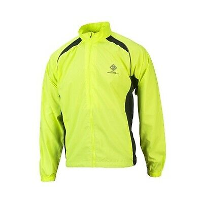 Ronhill Team Run Junior Yellow Water Resistant Hi Viz Windproof Running Jacket